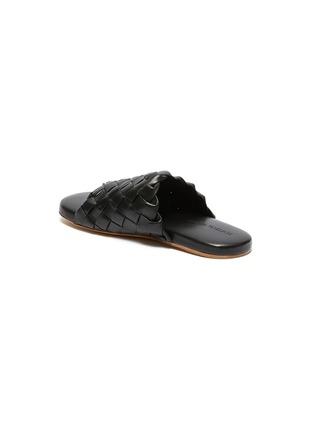 - BOTTEGA VENETA - Foot Bed' Intercciato leather sandals