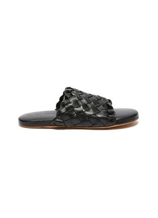 Main View - Click To Enlarge - BOTTEGA VENETA - Foot Bed' Intercciato leather sandals
