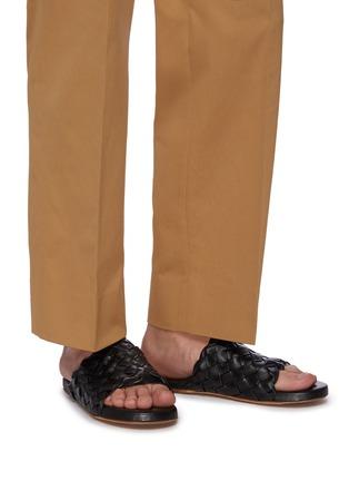 Figure View - Click To Enlarge - BOTTEGA VENETA - Foot Bed' Intercciato leather sandals