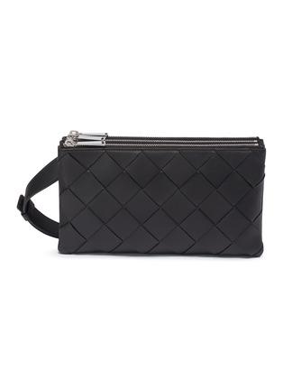 Main View - Click To Enlarge - BOTTEGA VENETA - Intreccio leather crossbody bag