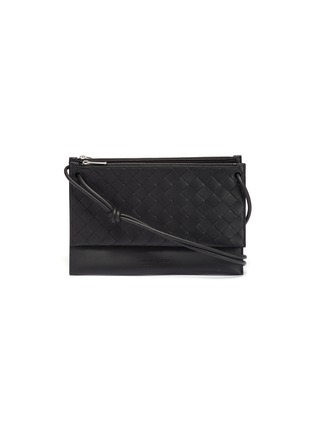 Main View - Click To Enlarge - BOTTEGA VENETA - Intreccio leather pouch with a wallet