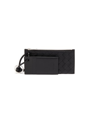 Main View - Click To Enlarge - BOTTEGA VENETA - Intreccio leather wallet with a card case