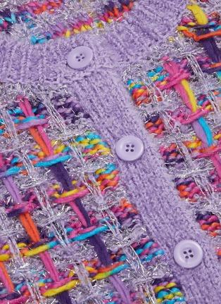- ALICE + OLIVIA - 'Devona' intarsia knit crop cardigan