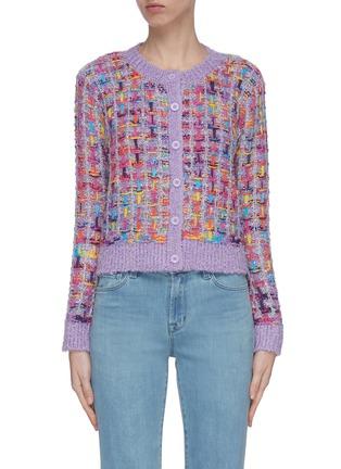 Main View - Click To Enlarge - ALICE + OLIVIA - 'Devona' intarsia knit crop cardigan