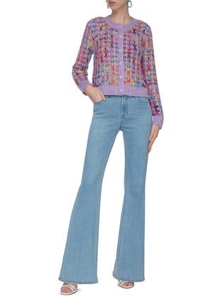 Figure View - Click To Enlarge - ALICE + OLIVIA - 'Devona' intarsia knit crop cardigan