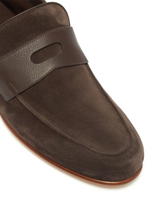Detail View - Click To Enlarge - JOHN LOBB - 'Hendra' suede penny loafers