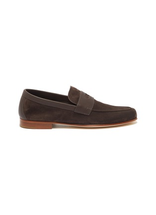 Main View - Click To Enlarge - JOHN LOBB - 'Hendra' suede penny loafers