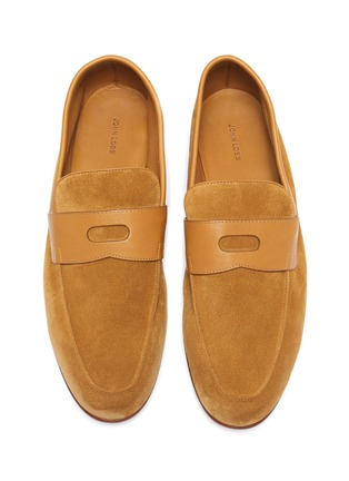 Detail View - Click To Enlarge - JOHN LOBB - 'Hendra' flexi penny loafers