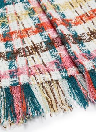 - OSCAR DE LA RENTA - Faded Houndstooth Print Tweed Dress
