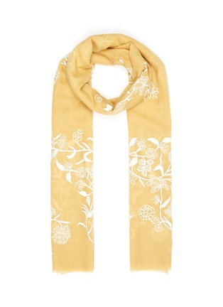 Main View - Click To Enlarge - JANAVI - Floral placement cashmere scarf