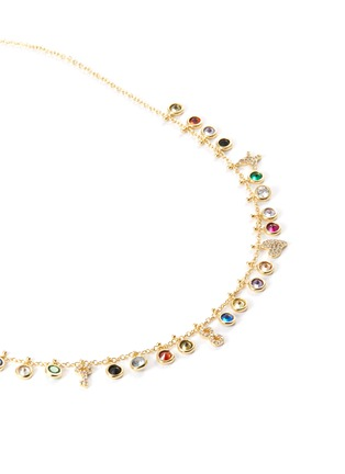 Detail View - Click To Enlarge - CZ BY KENNETH JAY LANE - Bezel cubic zirconia necklace