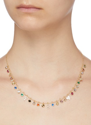Figure View - Click To Enlarge - CZ BY KENNETH JAY LANE - Bezel cubic zirconia necklace