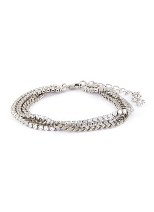 Main View - Click To Enlarge - CZ BY KENNETH JAY LANE - Cubic zirconia row chain bracelet