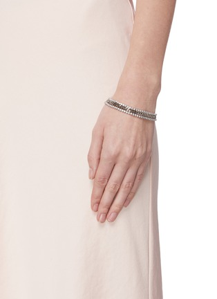 Figure View - Click To Enlarge - CZ BY KENNETH JAY LANE - Cubic zirconia row chain bracelet