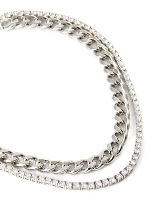 Detail View - Click To Enlarge - CZ BY KENNETH JAY LANE - Cubic zirconia row chain necklace