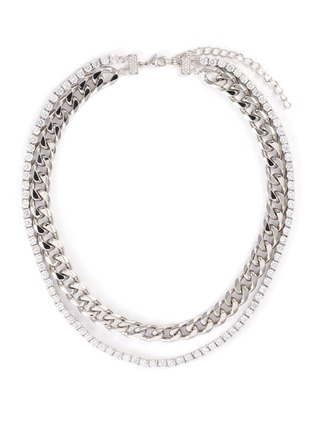 Main View - Click To Enlarge - CZ BY KENNETH JAY LANE - Cubic zirconia row chain necklace