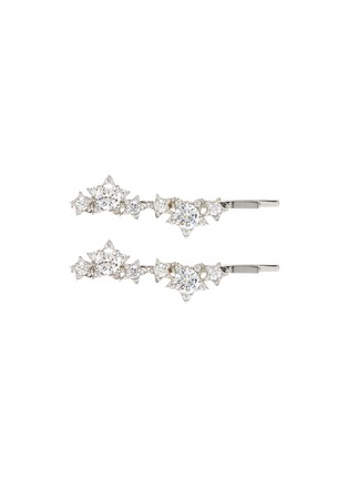 Main View - Click To Enlarge - CZ BY KENNETH JAY LANE - Cubic zirconia star cluster hair pins