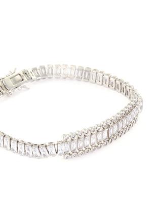 Detail View - Click To Enlarge - CZ BY KENNETH JAY LANE - Cubic zirconia round trim tennis bracelet bracelet