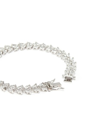Detail View - Click To Enlarge - CZ BY KENNETH JAY LANE - Cubic zirconia marquise vine tennis bracelet