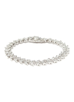 Main View - Click To Enlarge - CZ BY KENNETH JAY LANE - Cubic zirconia marquise vine tennis bracelet