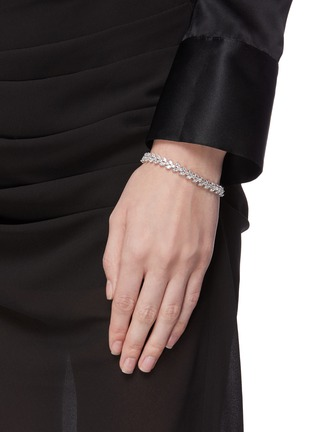 Figure View - Click To Enlarge - CZ BY KENNETH JAY LANE - Cubic zirconia marquise vine tennis bracelet