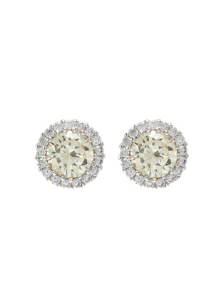 Main View - Click To Enlarge - CZ BY KENNETH JAY LANE - Cubic zirconia round pave trim stud earrings