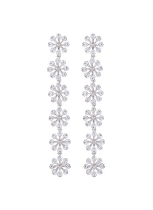 Main View - Click To Enlarge - CZ BY KENNETH JAY LANE - cubic zirconia floral motif drop earrings