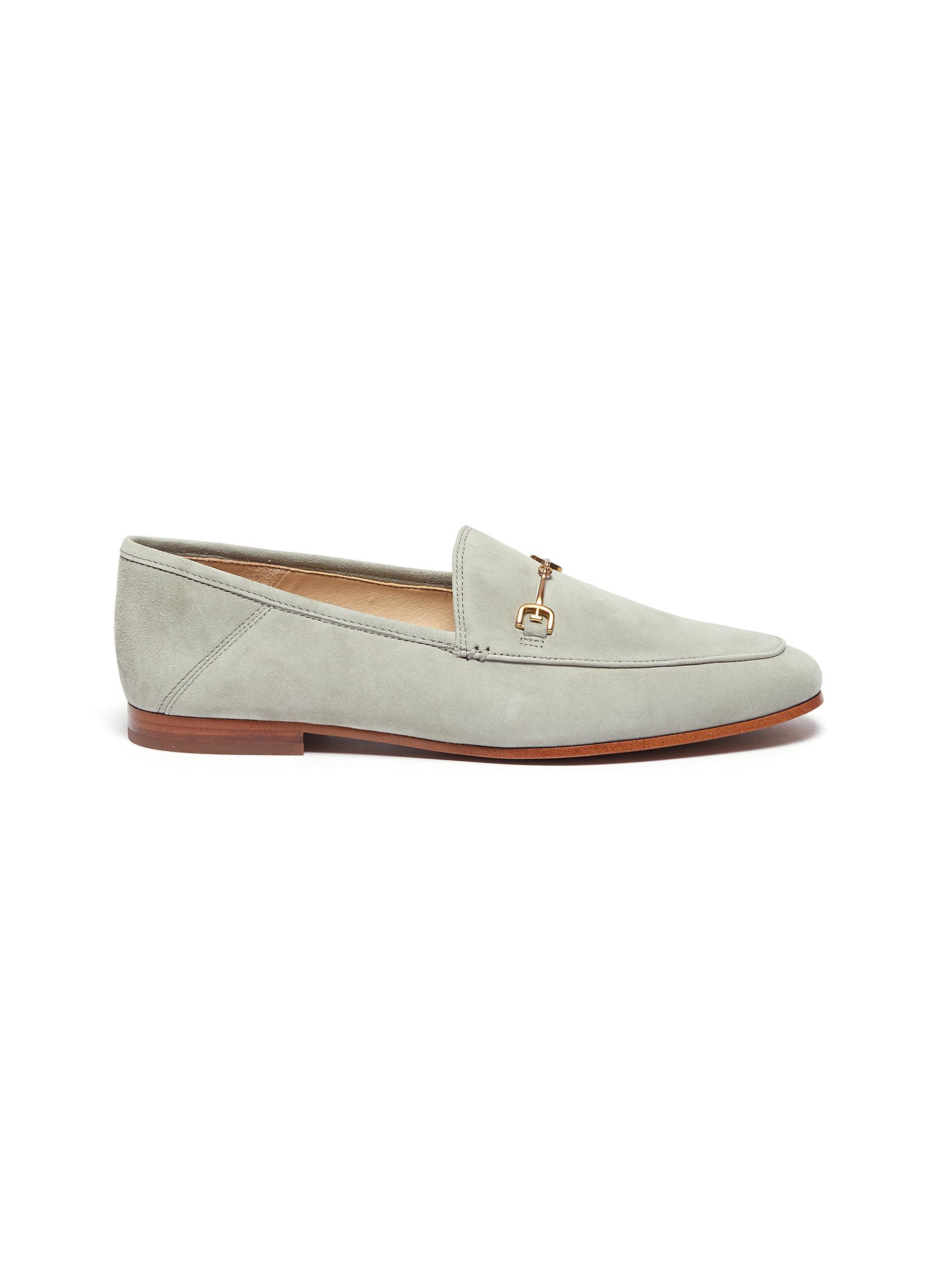 Sam Edelman Flats Loraine horsebit suede step-in loafers