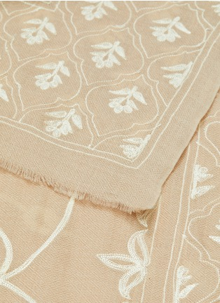 Detail View - Click To Enlarge - JANAVI - Jaal print cashmere scarf