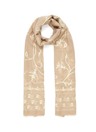 Main View - Click To Enlarge - JANAVI - Jaal print cashmere scarf
