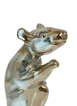 Detail View - Click To Enlarge - BACCARAT - Zodiaque Mouse 2020 Crystal Sculpture – Gold