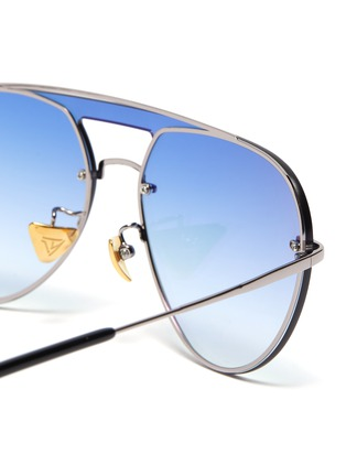Detail View - Click To Enlarge - DONNIEYE - 'Faith' metal aviator sunglasses