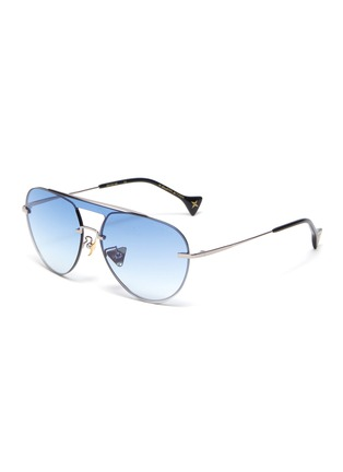 Main View - Click To Enlarge - DONNIEYE - 'Faith' metal aviator sunglasses
