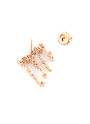 Figure View - Click To Enlarge - SUZANNE KALAN - Diamond 18k rose gold drop earrings