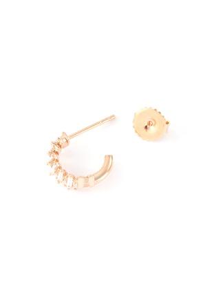 Figure View - Click To Enlarge - SUZANNE KALAN - 'Fireworks' diamond 18k rose gold mini hoop earrings