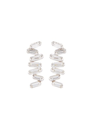 Main View - Click To Enlarge - SUZANNE KALAN - 'Fireworks' diamond 18k white gold earrings