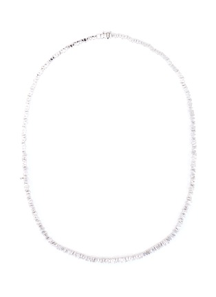 Main View - Click To Enlarge - SUZANNE KALAN - 'Fireworks' diamond 18k white gold tennis necklace