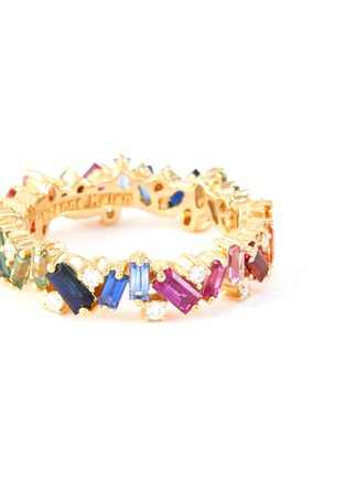 Figure View - Click To Enlarge - SUZANNE KALAN - 'Rainbow Frenzy' diamond sapphire 18k yellow gold eternity ring