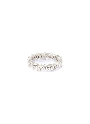 Main View - Click To Enlarge - SUZANNE KALAN - 'Fireworks' diamond 18k white gold icon eternity ring