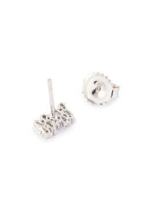 Figure View - Click To Enlarge - SUZANNE KALAN - 'Fireworks' diamond 18k white gold earrings