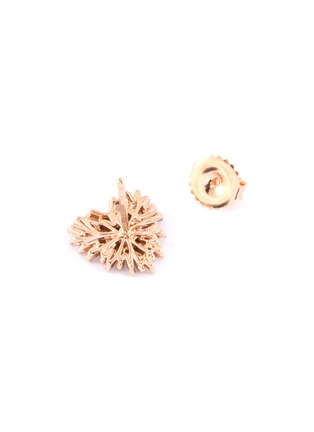 Figure View - Click To Enlarge - SUZANNE KALAN - 'Fireworks' diamond 18k rose gold heart earrings