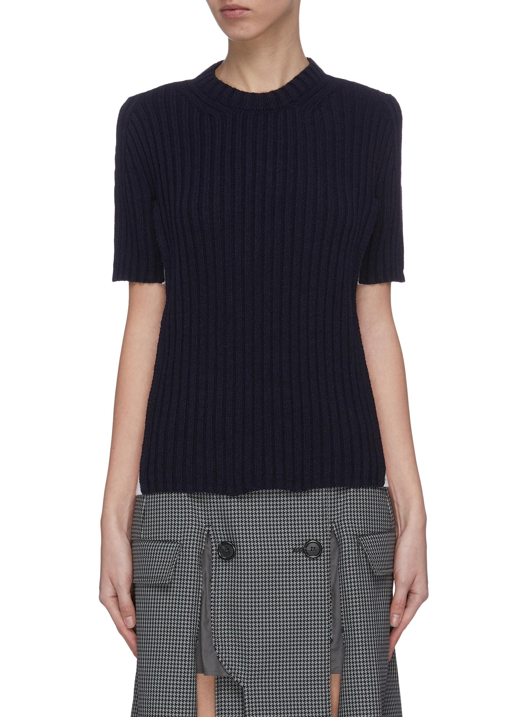Buy Maison Margiela Tops Rib contrast outseam top