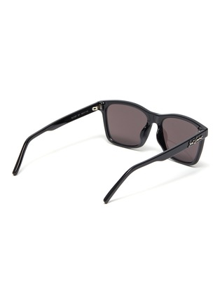 Figure View - Click To Enlarge - SAINT LAURENT - Square acetate frame aviator sunglasses