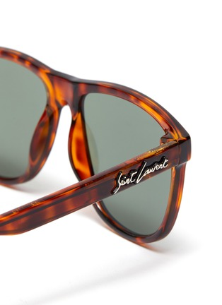 Detail View - Click To Enlarge - SAINT LAURENT - Tortoiseshell effect acetate frame sunglasses