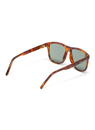 Figure View - Click To Enlarge - SAINT LAURENT - Tortoiseshell effect acetate frame sunglasses