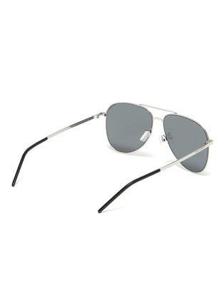 Figure View - Click To Enlarge - SAINT LAURENT - 'Classic 11 Slim' double bridge metal frame aviator sunglasses
