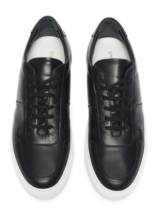Detail View - Click To Enlarge - COMMON PROJECTS - 'Bball' leather sneakers