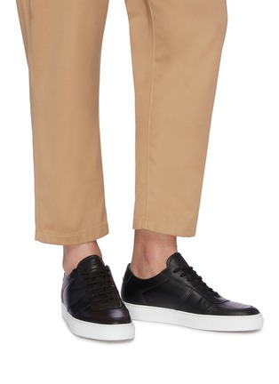 Figure View - Click To Enlarge - COMMON PROJECTS - 'Bball' leather sneakers