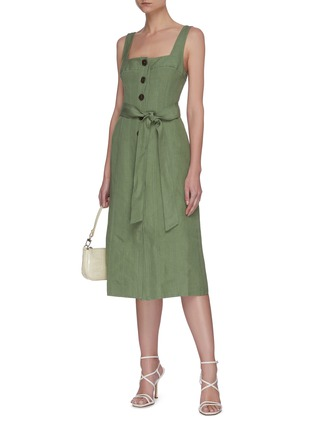Figure View - Click To Enlarge - C/MEO COLLECTIVE - Occurrence' button up belted dress