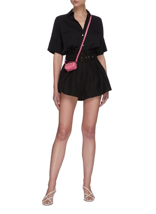 Figure View - Click To Enlarge - C/MEO COLLECTIVE - Early On' belted paperbag shorts